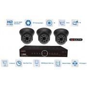 Kamerové sety AHD 3x kamera 1080P s 20m IR a hybridný DVR