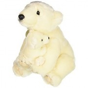 Aurora World Miyoni Polar Bear with Cub Plush 14