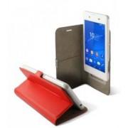 KSix Étui universel folio pour smartphone avec slide - jusqu'à 5'' - Rouge