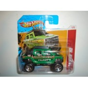 2012 Hot Wheels SHORT CARD Thrill Racers - Earthquake Hummer H2 Green #221/247