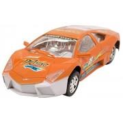 Techege Toys Orange Racing Lambo Super Car Self Driving Bumpn Go Race Car Realistic Sounds Flashing Lights