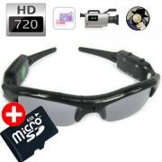 HD Kamera v okuliaroch - Agent 009 s 8GB Micro SD