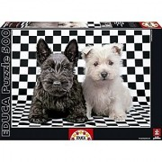 Educa Checkered Terriers Puzzle (500 Piece)