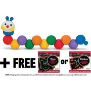 Ks Kids Build an Inchworm Stacking Toy + FREE Melissa & Doug Scratch Art Mini-Pad Bundle [91794]