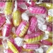 Stockleys Rhubarb & Custard Twist Traditional Retro Sweets