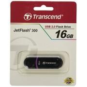 Transcend Clé USB 2.0 16 Go JetFlash 300 Noir TS16GJF300