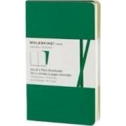 Moleskine Volant Pocket Plain Emerald Green & Oxide Green by Moleskine
