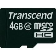 Card de Memorie Transcend microSDHC 4GB Clasa 4