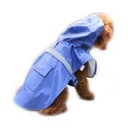 Regnrock med reflex till hunden - Blå, S