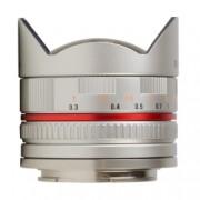 Samyang 8mm Fisheye F2.8 Canon EF-M argintiu