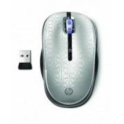 HP 2.4 GHz Wireless Optical Mobile Mouse 4 Buttons (Silver)
