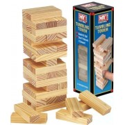 Wooden Tumbling Stacking Tower Kids Family Party Board Game by MY