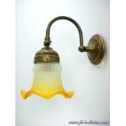 Applique ottone brunito con vetro giallo a1