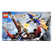 Lego Year 2005 Vikings Series Collectible Set # 7016 - Viking Boat Against the Wyvern Dragon with 2 Viking Warrior Minifigures (Total Pieces: 112) by LEGO