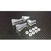 Traxxas 1/16 Mini E-Revo, Mini Slash Upgrade Parts Aluminium Front+Rear Rocker Arm - 4Pcs Set Silver
