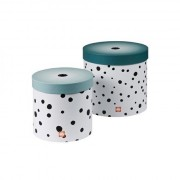 Round box set, Happy dots, 2 pcs., blue Done by Deer