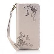 Para Samsung Galaxy S7 Edge Porta-Cartão / Carteira / Com Suporte / Flip / Estampada Capinha Corpo Inteiro Capinha Flor Rígida Couro PU