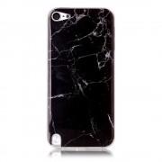 Zwart marmer iPod Touch 5/6 TPU hoesje marble case