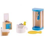 Hape - Family Bathroom Wooden Doll House Furniture Set