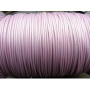 Vaxad Polyestertråd - Rosa, 1mm, 1 rulle, ca 182m