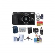 Fujifilm X70 Digital Camera Black - Bundle With 32GB SDHC Card, Camera Case, 49mm Filter Kit, Spare Battery, Quick Charger, Table Top Tripod, Memory Wallet, Cleaning Kit, Card Reader, Software Package