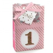 1st Birthday Girl - Fun to be One - Birthday Party Favor Boxes - Set of 12