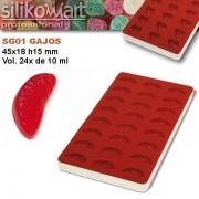 Molde JellyFlex rodajas de naranja de Silikomart