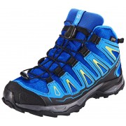 Salomon X-Ultra Mid GTX Shoes Juniors blue yonder/bright blue/granny green 34 Trekkingschuhe