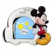 cornice portafoto in argento mickey mouse 11x13 cm auto