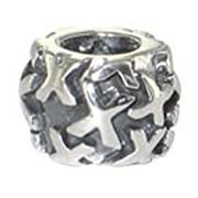 Chrysalis, Ladies' Oxidised Sterling Silver, Letter 'X' Spacer