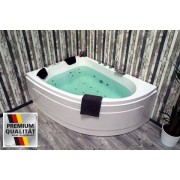 Whirlpool Doppel Badewanne Titan rechts + links mit 25 Massage Düsen + Heizun...