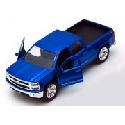 Chevy Silverado Pickup Truck Blue - Jada Toys Just Trucks 97017 - 1/32 scale Diecast Model Toy Car