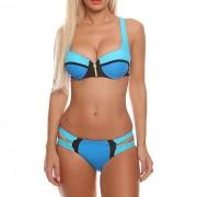 Beugel bikini Neopreen Rits Blauw