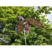 Sperietoare Bufniță impermeabilă cu avengură a aripilor de 110 cm de alungare a păsărilor (prombei, vrăbii, mierle, mîncători de albine) și a rozătoarelor (șoareci, șobolani, veverițe) și a iepurilor