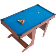 Riley PT20-46D Foldable Billiard Pool Table + Cues & Balls