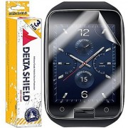 [3-PACK] DeltaShield BodyArmor - Samsung Gear S Screen Protector - Premium HD Ultra-Clear Cover Shield with Lifetime Warranty Replacements - Anti-Bubble & Anti-Fingerprint Military-Grade Film