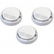Pack 3 Detectores De Humo Inalámbrico A Batería De 9 Volts