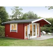 WOLFF FINNHAUS Gartenhaus Blockbohlenhaus Hammerfest 70-A XL 70 mm naturbelassen