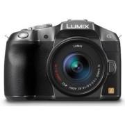 Aparat Foto Mirrorless Panasonic DMC-G6KEG-K, cu Obiectiv LUMIX G VARIO 14-42 mm, 16 MP, NFC, Wi-Fi (Argintiu)