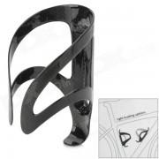 ZQ-1020 Ciclismo al aire libre de fibra de carbono de bicicletas Porta Botella de Agua - Negro
