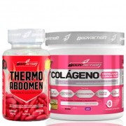 Thermo Abdomen 120 Comprimidos + Colágeno Hidrolisado Clinical Skin - 300g Uva - Body Action .