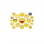 Fietsstickers smiley set Geel