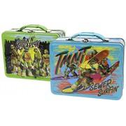 "Bundle of 2 Assorted Tin Box Co 7.5"" Lunch Boxes - Teenage Mutant Ninja Turtles"