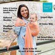 Beachfront Baby Sling - The Original Water & Warm Weather Adjustable Ring Sling Baby Carrier | Made in USA with Safety Tested Fabric & Aluminum Rings | Lightweight Quick Dry & Breathable (One Size Coral Sea)