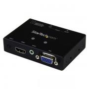 StarTech.com - Switch Conversor 2x1 VGA + HDMI a VGA con Conmutado Prioritario - Selector 1080p