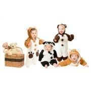 Baby Dumdum Pijama para bebé con forma de animal, con capucha, hecho de vellón oso 6-12 meses Talla:6-12 meses