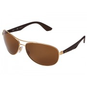 Ray-Ban RB3526 63mm Gold MattePolarized Brown