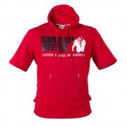 Gorilla Wear Boston Short Sleeve Hoodie - Red-XL