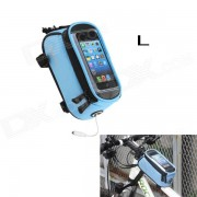 Roswheel Saddle Touch Screen Bag w/ Earphone Hole for Cell Phone - Blue (Size L)