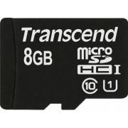 Card de memorie Transcend, microSDHC, 8GB, UHS-I, 600x